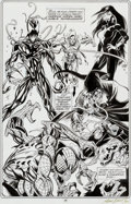 Original Comic Art:Splash Pages, Mark Bagley and Al Milgrom The Amazing Spider-Man #384Splash Page 23 Original Art (Marvel, 1993)....
