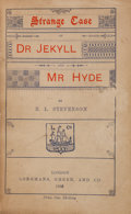 Books:Literature Pre-1900, Robert Louis Stevenson. Strange Case of Dr. Jekyll and Mr. Hyde. London: Longmans, Green, and Company, 1886....
