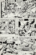 Original Comic Art:Panel Pages, Jack Kirby and D. Bruce Berry Our Fighting Forces #152 Page6 Original Art (DC, 1974)....