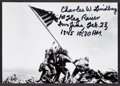 "Miscellaneous Collectibles:General, Charles Lindberg ""1st Flag Raider Iwo Jima, Feb. 23 1945 10:30 AM.""Signed Photograph...."