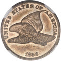 Proof Flying Eagle Cents, 1856 1C -- Reverse Lamination -- PR63 NGC. Snow-3....