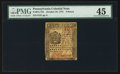 Colonial Notes:Pennsylvania, Pennsylvania October 25, 1775 9d PMG Choice Extremely Fine 45.. ...