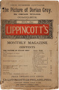 Books:Literature Pre-1900, [Oscar Wilde]. First Appearance of The Picture of DorianGray in Lippincott's Monthly Magazine. Publ...