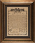 "Books:Prints & Leaves, [Broadside]. ""1776-1876 Centennial Memorial"" Declaration ofIndependence Facsimile. New York: James D. McBride, Printed by t..."