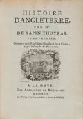 Books:World History, Paul Rapin de Thoyras. Histoire D'Angleterre. The Hague:Chez Alexandre de Rogissart, 1724-1727. First Edition. Ten ...(Total: 10 Items)