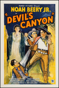 "Movie Posters:Western, Devil's Canyon (Sunset Productions, 1935). One Sheet (27"" X 41"").Western.. ..."