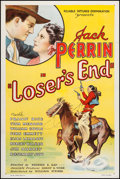 "Movie Posters:Western, Loser's End (William Steiner, 1935). One Sheet (27"" X 41"").Western.. ..."