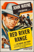 "Movie Posters:Western, Red River Range (Republic, R-1953). One Sheet (27"" X 41""). Western.. ..."