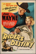 """Movie Posters:Western, Riders of Destiny (Lone Star, R-1939). One Sheet (27"""" X 41""""). Western.. ..."""