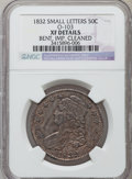 Bust Half Dollars, 1832 50C Small Letters -- Bent, Improperly Cleaned -- NGC Details.XF. O-103. NGC Census: (127/1743). PCGS Population (...