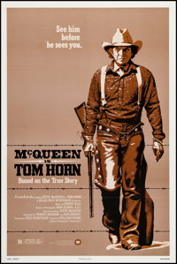 "Tom Horn (Warner Brothers, 1980). One Sheet (27"" X 41""). Western"