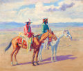 Western:20th Century, HENRY C. BALINK (American, 1882-1963). Indians on Horseback. Oil on canvas. 21 x 24 inches (53.3 x 61.0 cm). Signed lowe...