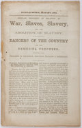 Books:Americana & American History, [Slavery] Popular Delusions in Relation to War, Slaves, Slaveryand the Abolition of Slavery. Journal Office, 18...