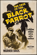 "Movie Posters:Crime, The Case of the Black Parrot (Warner Brothers, 1941). One Sheet (27"" X 41""). Crime.. ..."