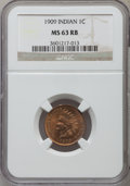 Indian Cents: , 1909 1C MS63 Red and Brown NGC. NGC Census: (159/658). PCGSPopulation (256/824). Mintage: 14,370,645. Numismedia Wsl. Pric...