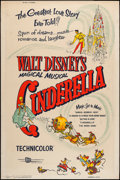 "Movie Posters:Animation, Cinderella (Buena Vista, R-1957 & R-1965). Silk Screened Poster & Poster (40"" X 60""). Animation.. ... (Total: 2 Items)"