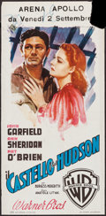"Movie Posters:Crime, Castle on the Hudson (Warner Brothers, 1949). Italian Locandina(13"" X 27.5""). Crime.. ..."