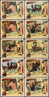 """Man in the Saddle (Columbia, 1951). Lobby Cards (10) (11"""" X 14""""). Western. ... (Total: 10 Items)"""
