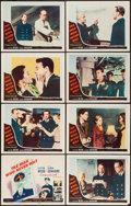 "Movie Posters:Mystery, The Man Who Never Was (20th Century Fox, 1956). Lobby Card Set of 8 (11"" X 14""). Mystery.. ..."