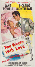 "Movie Posters:Comedy, Two Weeks with Love & Other Lot (MGM, 1950). Three Sheet (41"" X 79"") & Lobby Cards (2) (11"" X 14""). Comedy.. ... (Total: 3 Items)"