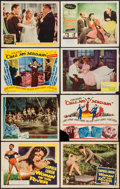 "Movie Posters:Foreign, Woman of the River & Others Lot (Columbia, 1957). Title Lobby Cards (2) & Lobby Cards (6) (11"" X 14""). Foreign.. ... (Total: 8 Items)"