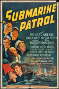 "Movie Posters:War, Submarine Patrol (20th Century Fox, 1938). One Sheet (27"" X 41""). War.. ..."