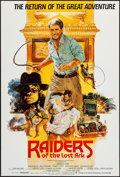 "Movie Posters:Adventure, Raiders of the Lost Ark (Paramount, R-1982). British One Sheet (27""X 40""). Adventure.. ..."