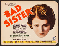 """The Bad Sister (Universal, 1931). Title Lobby Card (11"""" X 14""""). Drama"""