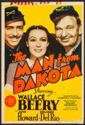 "Movie Posters:War, The Man from Dakota (MGM, 1940). Trimmed Midget Window Card (8"" X12""). War.. ..."