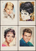 """Movie Posters:Miscellaneous, Carolyn Jones & Others Personality Posters Lot (Warner Brothers, 1960). Personality Posters (8) (13"""" X 19""""). Miscellaneous.... (Total: 8 Items)"""