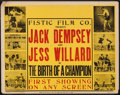 "Movie Posters:Sports, Jack Dempsey and Jess Willard in The Birth of a Champion (Fistic Film, 1939) Half Sheet (22"" X 28""). Sports.. ..."