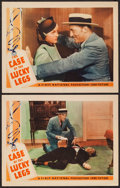 "Movie Posters:Mystery, The Case of the Lucky Legs (First National, 1935). Lobby Cards (2) (11"" X 14""). Mystery.. ... (Total: 2 Items)"