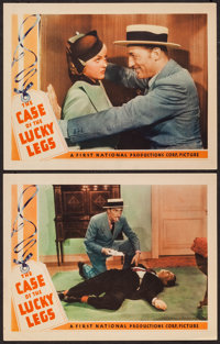 "The Case of the Lucky Legs (First National, 1935). Lobby Cards (2) (11"" X 14""). Mystery. ... (Total: 2 Items)"