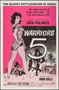 "Movie Posters:War, Warriors 5 & Other Lot (American International, 1962). OneSheets (2) (27"" X 41""). War.. ... (Total: 2 Items)"