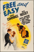 "Movie Posters:Comedy, Free and Easy (MGM, 1941). One Sheet (27"" X 41""). Comedy.. ..."