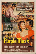 "Movie Posters:Adventure, The Purple Mask (Universal International, 1955). One Sheet (27"" X41""). Adventure.. ..."