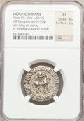 Ancients:Oriental, Ancients: INDO-SCYTHIANS. Azes I (ca. 58-12 BC). AR tetradrachm (9.53 gm)....