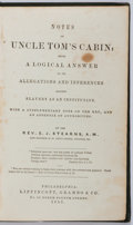Books:Americana & American History, [Pro-Slavery Rebuttal to Harriet Beecher Stowe and Uncle Tom'sCabin]. Rev. E. J. Stearns. Notes on Uncle Tom's Cabi...