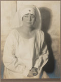 Photography:Studio Portraits, Jesse Banfield (1877-1946). Original Hand-Toned Silver GelatinPhotograph Believed to Be of His Niece, Muriel. Measures appr...