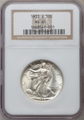 Walking Liberty Half Dollars: , 1933-S 50C MS61 NGC. NGC Census: (33/527). PCGS Population (2/929).Mintage: 1,786,000. Numismedia Wsl. Price for problem f...