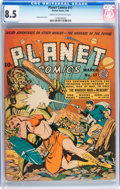 Golden Age (1938-1955):Science Fiction, Planet Comics #17 (Fiction House, 1942) CGC VF+ 8.5 Cream tooff-white pages....
