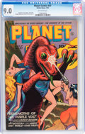 Golden Age (1938-1955):Science Fiction, Planet Comics #37 (Fiction House, 1945) CGC VF/NM 9.0 Off-whitepages....