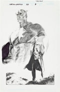 Original Comic Art:Splash Pages, Stuart Immonen Captain America #50 Pencil Story Splash Page8 Original Art (Marvel, 2002)....