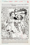 Original Comic Art:Splash Pages, Bret Blevins and Michael Bair Sleepwalker #7 Splash Page 1Original Art (Marvel, 1991)....