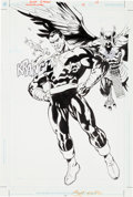 Original Comic Art:Splash Pages, Scot Eaton and Ray Kryssing Hawkman #19 Splash Page 14Original Art (DC, 2003)....