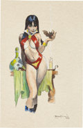 Original Comic Art:Splash Pages, Mike Hoffman Vampirella Pin-Up Original Art (2009)....