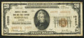 National Bank Notes:Virginia, Marshall, VA - $20 1929 Ty. 2 Marshall NB & TC Ch. # 10253. ...