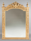 Decorative Arts, Continental, AN ITALIAN NEOCLASSICAL-STYLE CARVED GILT WOOD MIRROR. 19thcentury. 94 x 61 x 3 inches (238.8 x 154.9 x 7.6 cm). ...
