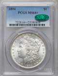 Morgan Dollars, 1894 $1 MS64+ PCGS. CAC. PCGS Population (236/25). NGC Census:(124/4). Mintage: 110,972. Numismedia Wsl. Price for problem...
