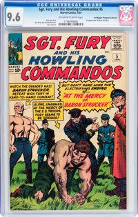 Sgt. Fury and His Howling Commandos #5 Don/Maggie Thompson Collection pedigree (Marvel, 1964) CGC NM+ 9.6 Off-white to w...